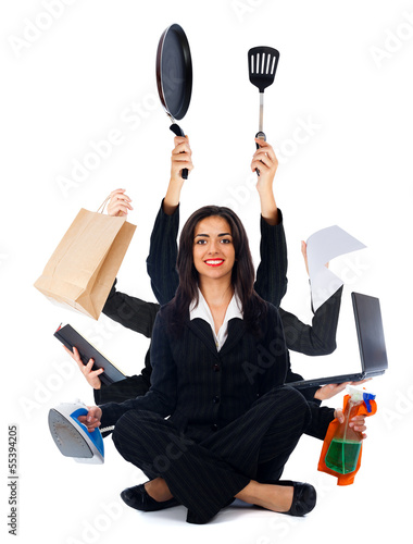 Kind Multi-Tasking Woman