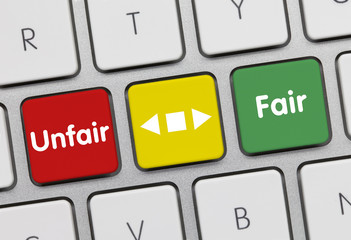 Unfair vs fair keyboard key