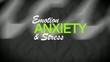 Anxiety stress management angst mental tag cloud animation