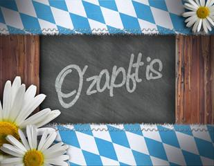 Oktoberfest - Holz Raute Schiefer