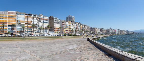 Panoramic view of Izmir waterfront, Turkey
