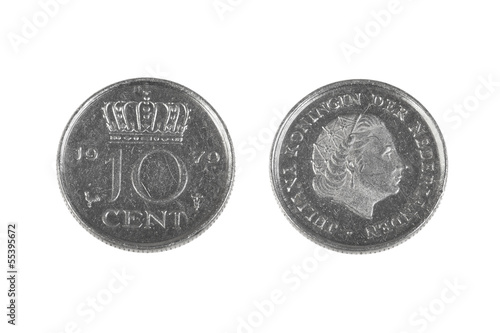 Ten cents coin from Netherlands