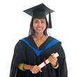Happy Indian university student