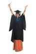 Full body happy Indian university student