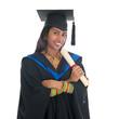 Indian college student graduation