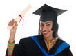 Indian university student graduation