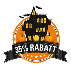 Halloween-Button: 35 % Rabatt