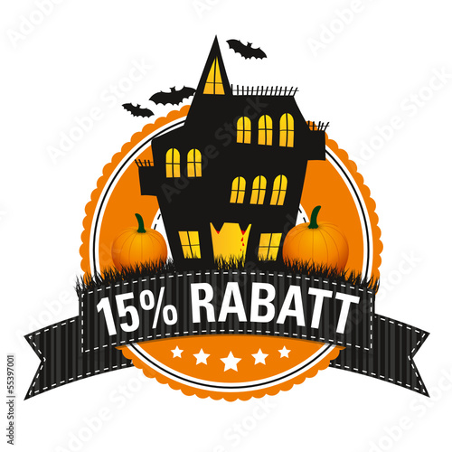 Halloween-Button: 15 % Rabatt
