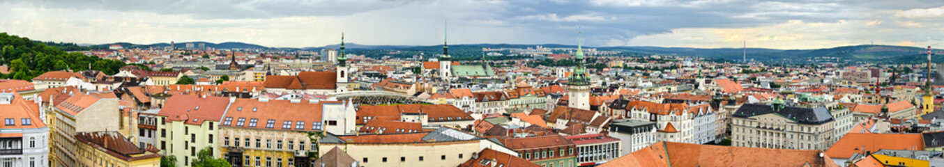 Panorama of Brno, Czech Republic