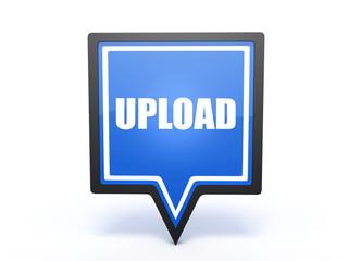 upload pointer icon on white background