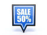 sale pointer icon on white background