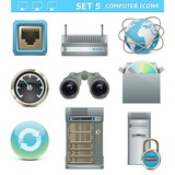 Vector Computer Icons Set 5