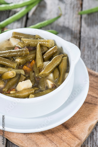 Portion of Green Bean Stew