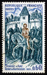 Postage stamp France 1974 Joan of Arc Leaving Vaucouleurs