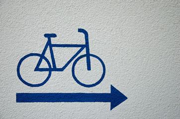 Hinweisschild für Radfahrer
