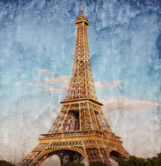 tour Eiffel color vintage