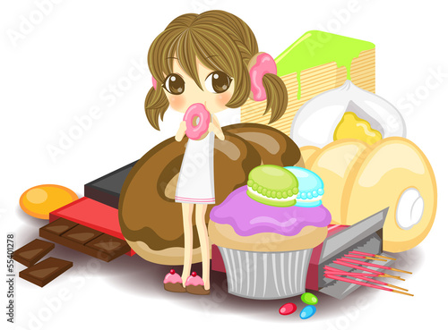 Nymph of sweets, create by vector