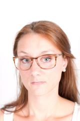 Studentin mit Brille