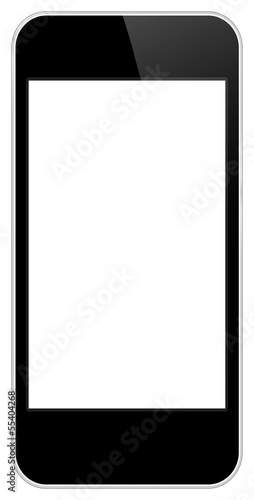 Business Mobile Phone Isolated On White