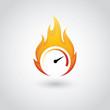 Speedometer on fire - 55404840