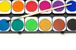 Wasserfarben mit Textfreiraum