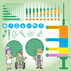 info graphics medica cartoon