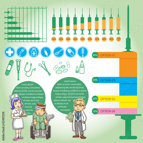 info graphics medica cartoon