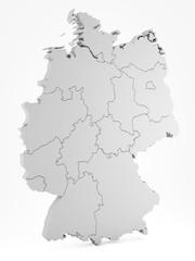 Deutschland mit Bundesländer