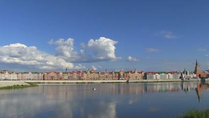 Beautiful buildings in Yoshkar-Ola, Russia. River