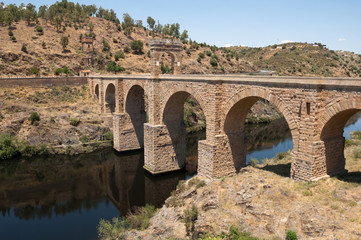 Roman bridge of Alcantara, Caceres Province, Extremadura (Spain)