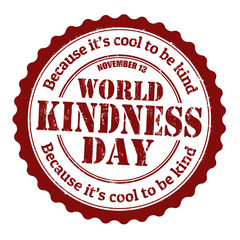 World kindness day stamp