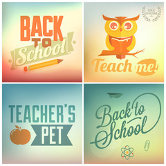 Back to School Typographic Elements