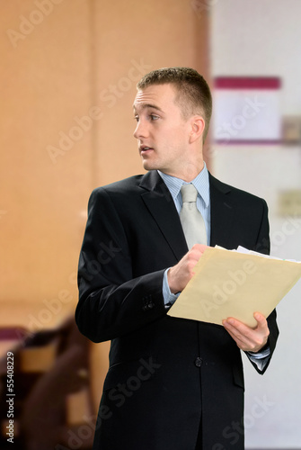 Professional Male with Folder