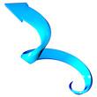 Freccia blu a spirale curve 3d