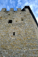 Tower of Gorizia Castle, a Medieval Fortress, Italy