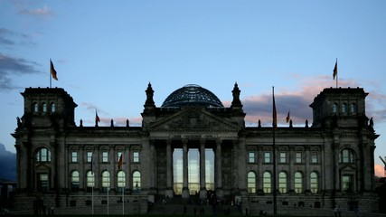 Reichstag - Berlin - time lapse