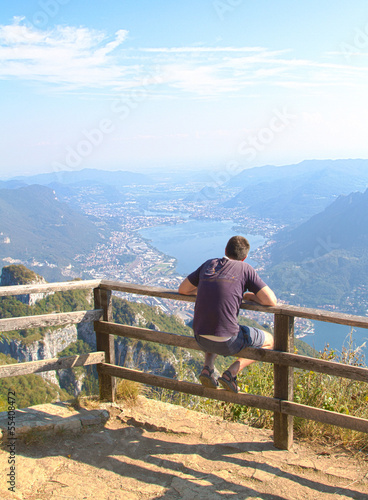 Man at the viewpoint