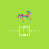 Happy new 2014 year. Greeting card.