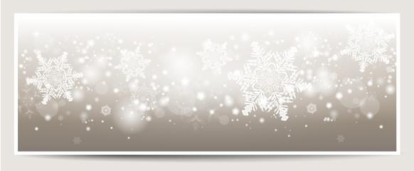 Banner Schneeflocken