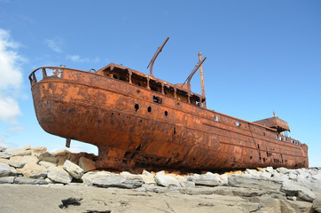 Plassey Shipwreck Aran Island Ireland