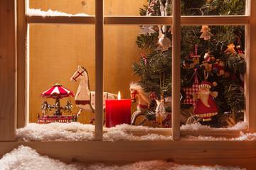 Weihnachten - Deko - Fenster - Weihnachtsstimmung