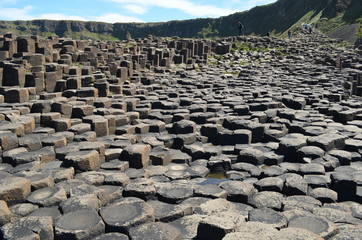 Giant's Causeway - Northern Ireland . hexagon stone