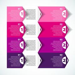 Colorful Process chart module - Vector illustration