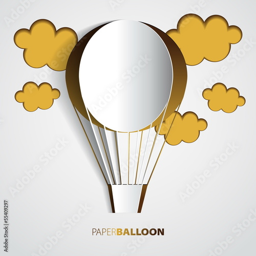 Paper hot air balloon