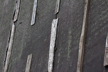 background of tar paper on the roof