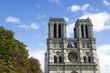Notre Dame de Paris cathedral at late summer