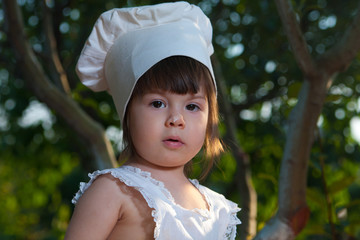 Little chef portrait