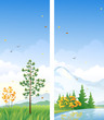 Fall vertical banners