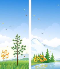 Fall vertical banners