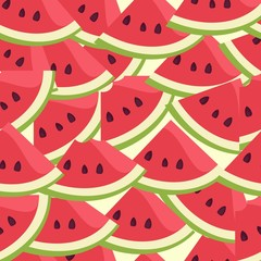Watermelon berry endless pattern